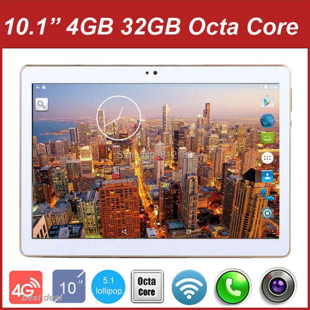 2016 Новый 10 дюймов 3 Г 4 Г Lte Tablet PC Окта основные 4 ГБ ОПЕРАТИВНОЙ ПАМЯТИ 32 ГБ ROM Две СИМ-Карты Android 5.1 GPS Tablet PC 10 10.1 + Подарки