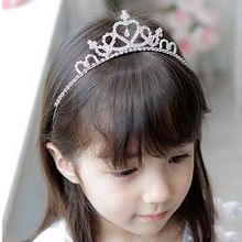 1 PC Vogue Baby Girls Toddler Newborn Princess Bridal Crown Crystal Diamond Tiara Hoop Headband Hair Band Accessories(China (Mainland))