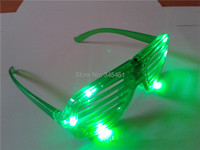 20pcs/lot Hot sale blind luminous glasses, Blinds led glasses 6leds Emitting fluorescent glasses, for Halloween Christmas party