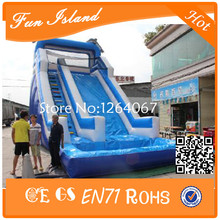 Free Shipping Giant Inflatable Slide, inflatable Water Slide With Pool(China (Mainland))