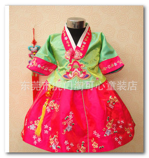 Korean Hanbok Traditional Costume baby girls kids Korean embroidered Dress Toddler Party Wedding Modern Dresses for0-3years 1380