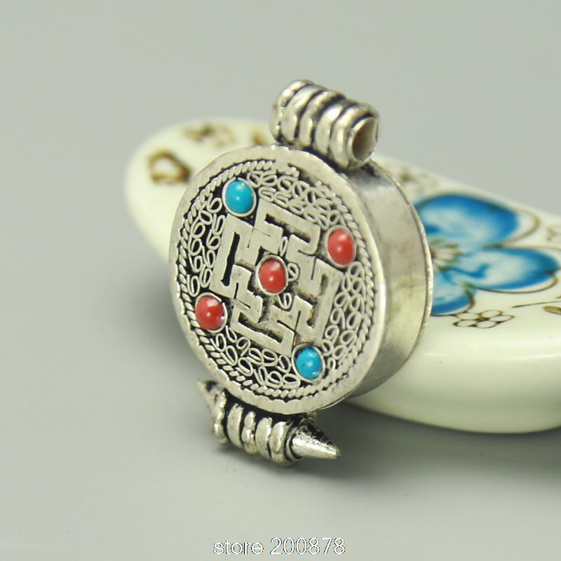 TGB008 Antiqued Tibetan Silver Cross Dorje Amulets Prayer Box 22mm Nepal buddhist arts,GAU pendants(China (Mainland))