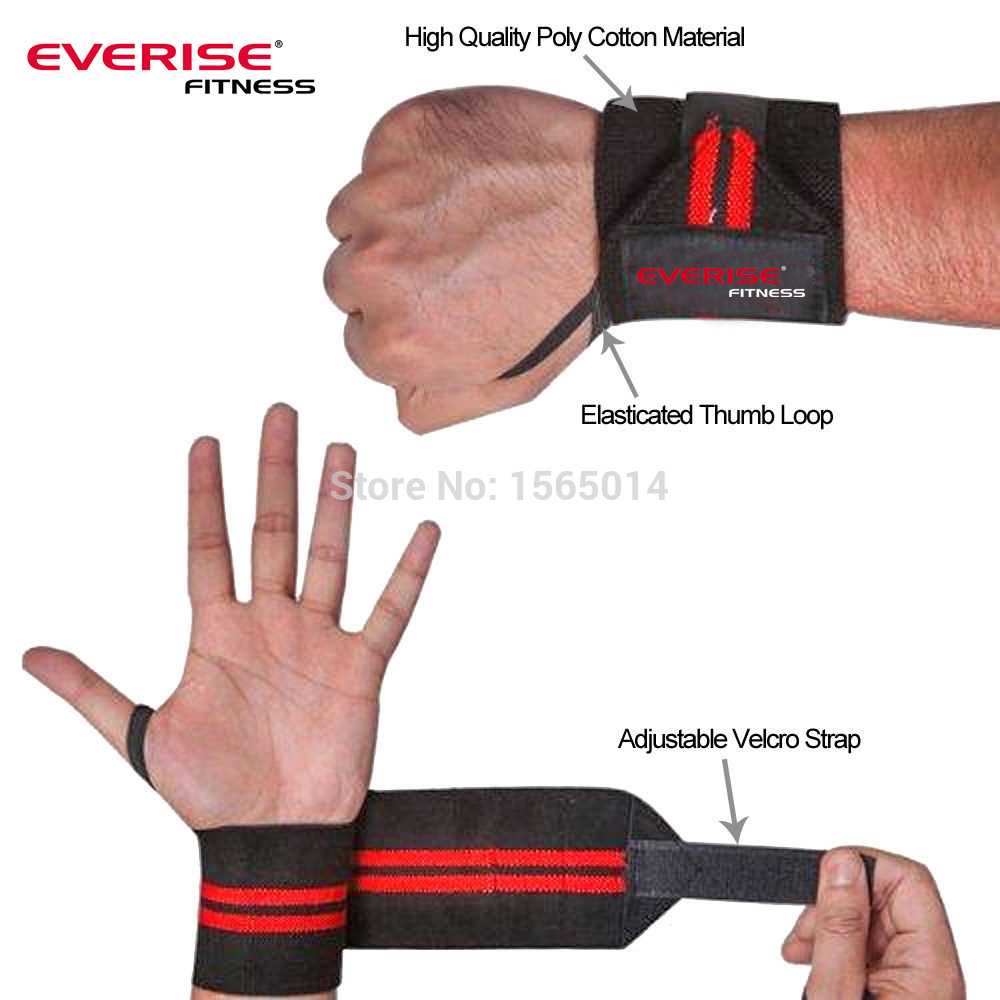 Wrist Wraps Support Bandages Power Weight Lifting Bodybuilding R B