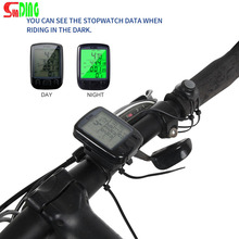 Buy Sunding SD 563B Waterproof LCD Display Cycling Bike Bicycle Computer Odometer Speedometer Green Backlight New HOT for $4.89 in AliExpress store