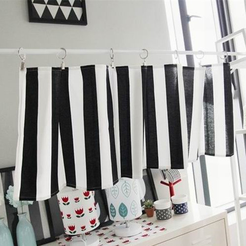 Http Www Aliexpress Com Item Black And White Stripe Curtain Short Kitchen Curtain 35x135cm 32379563517 Html