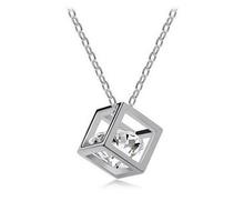 Austria Zircon Crystal Necklace Square Shape Transparant For Wholesale(China (Mainland))