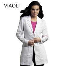 Для женщин одежда медсестра равномерной медицинские услуги пальто белый медицинский одежда защитить халатах с длинными рукавами узкий пер...(China)