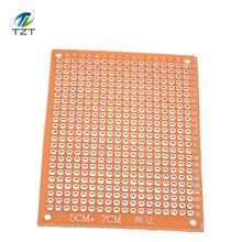 Hot 10Pcs 5*7 PCB 5x7 PCB 5cm 7cm DIY Prototype Paper PCB Universal Board yellow(China (Mainland))