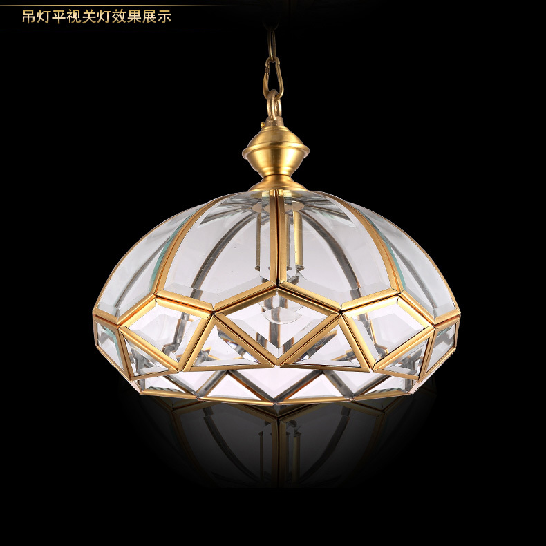 Retro copper pendant lamp for country house villa dining room light glass pendant lights coffeeshop light surface lamp lighting <br><br>Aliexpress
