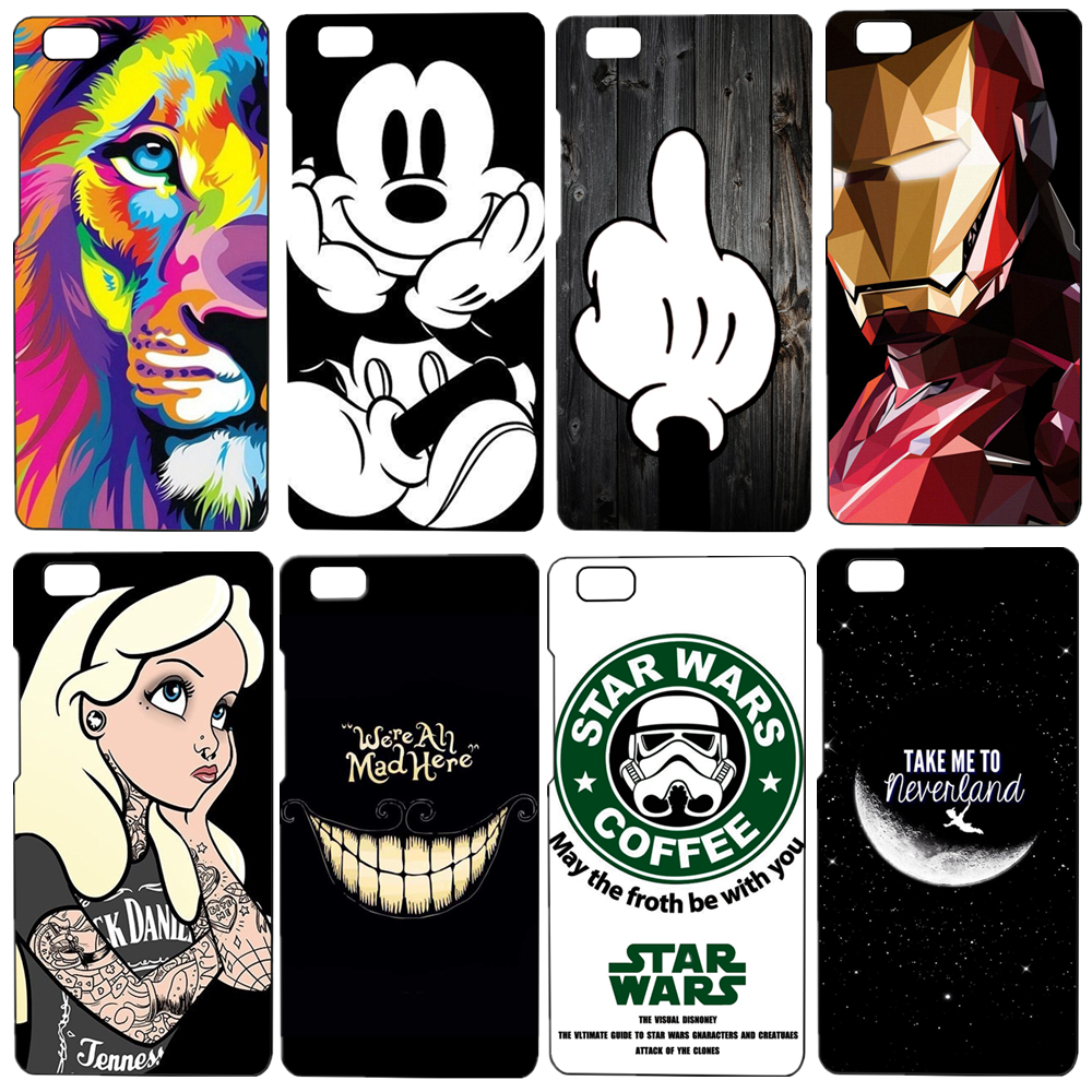 Cute Cartoon Painted Mobile Phone Case Huawei p8 Lite Colorful Protective Case Capa Funda For Huawei Ascend P8 Lite 5.0 inch(China (Mainland))