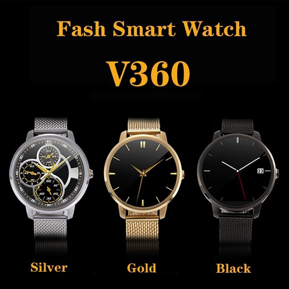 2016 Luxury Smart Watch Round Intelligent Clock with 2MP Camera Bluetooth watches Pedometer for Men's Android SmartPhone(China (Mainland))