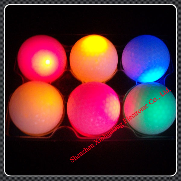 2013 luminous golf ball , led novelty golf night training ball(China (Mainland))