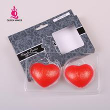 QueenMaker 2014 Free shipping red heart-shaped silicone breast chest paste comfort reusable stickers good quality underwear