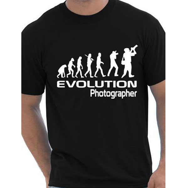 Evolution Of A Photographer Gift Photography Cameraman Mens T Shirt More Size and Colors(China (Mainland))