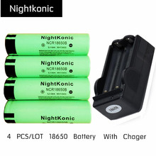4 PCS/LOT 18650 Battery With 18650 Charger rechargeable Battery 3.7V li-ion 18650B