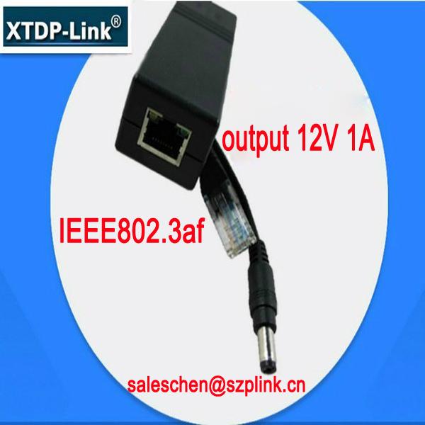DC37-57V Input POE Splitter Power Over Ethernet Splitter network switches rj45 connectors poe splitter cable OEM ODM 12V 1A(China (Mainland))