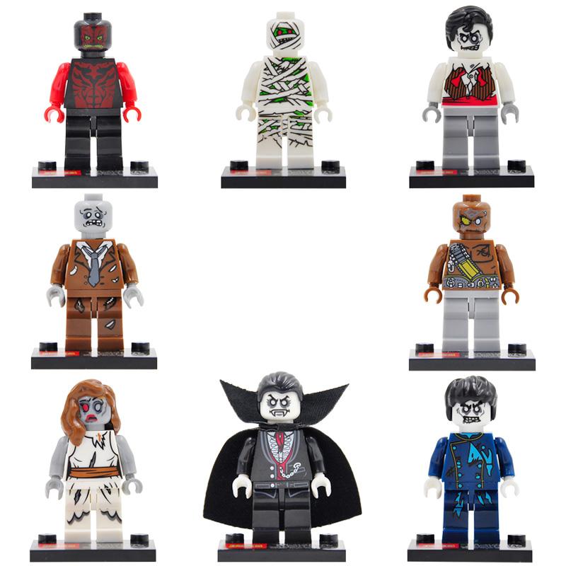 8pcs/lot Zombie World The Walking Dead Movie Minifigures Building Blocks Sets Figures Bricks Toys Legoe Compatible Z91A<br><br>Aliexpress