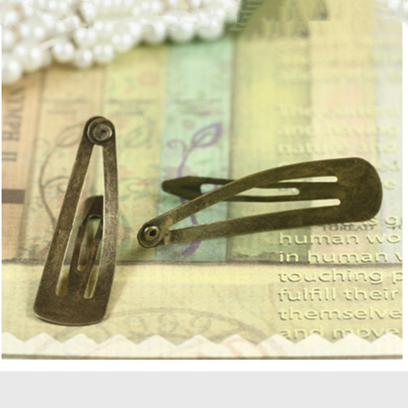 10 pcs Retro vintage hairpins snap hair clips woman bronze hair accessories folder clip bebe(China (Mainland))