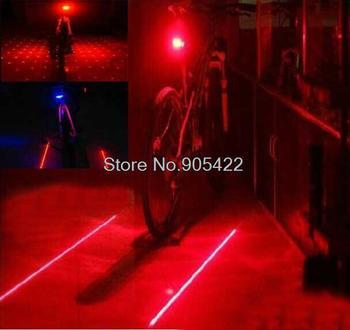 Retail free shipping  Bicycle Cycling Laser Tail Light (2 Laser + 5 LED) Bike safety light MC50P