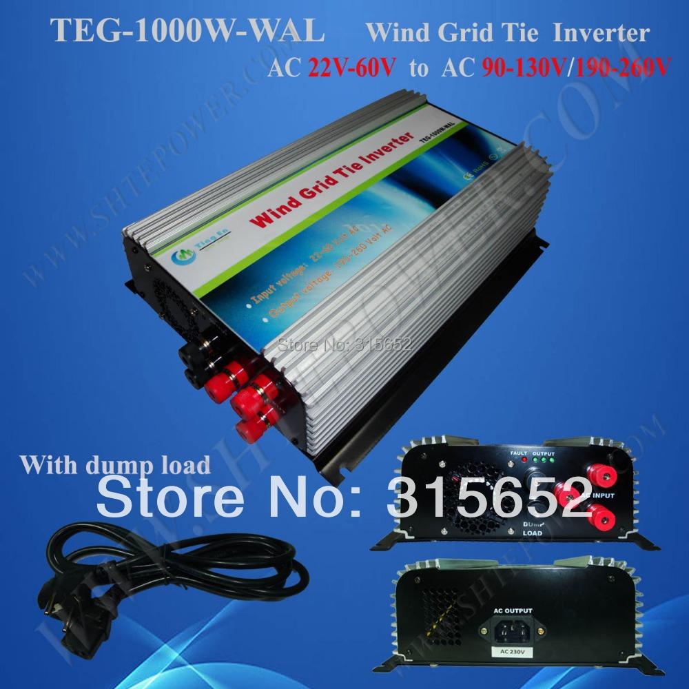 1000W Micro Grid Tie Wind Turbine Generator 22V-60V(China (Mainland))
