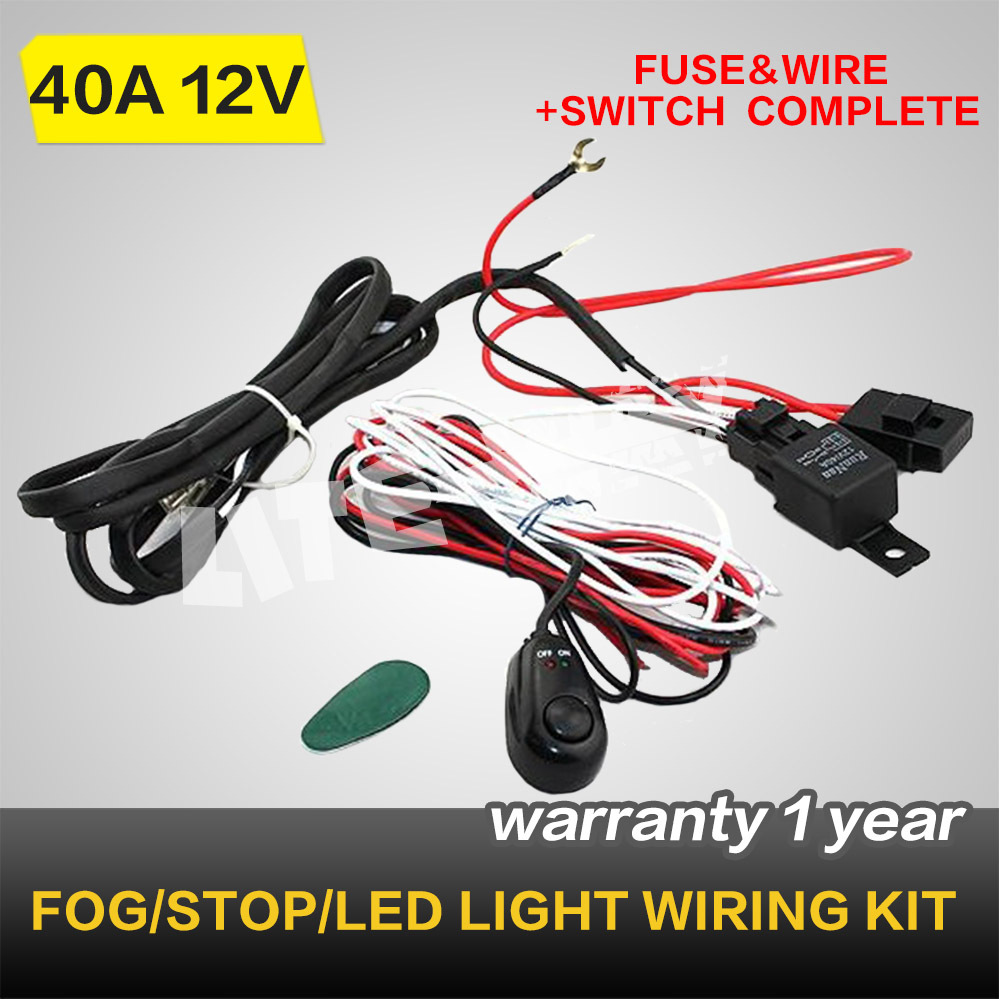 Snap Led Hid Fog Spot Work Driving Light Wiring Loom Kit Harness 12v Lights Relay Diagram 40a Switch