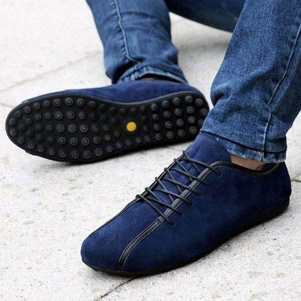 Горячая замша натуральная кожа мужской обуви новое поступление европейский стиль ...