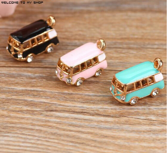 New arrived Alloy drop oil gold plated 3D Stereoscopic Cartoon Bus Car shape charms diy phone/key chain pendants jewelry making<br><br>Aliexpress