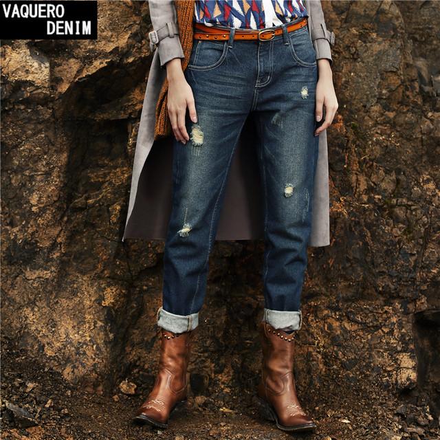 Бойфренд джинсы для женщин 2015 горячая распродажа бесплатная доставка свободного ...