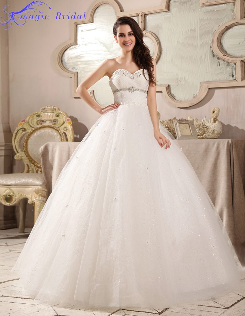 Wedding Gown Lace Up Back : Elegant strapless lace up back wedding dress ball gown dresses