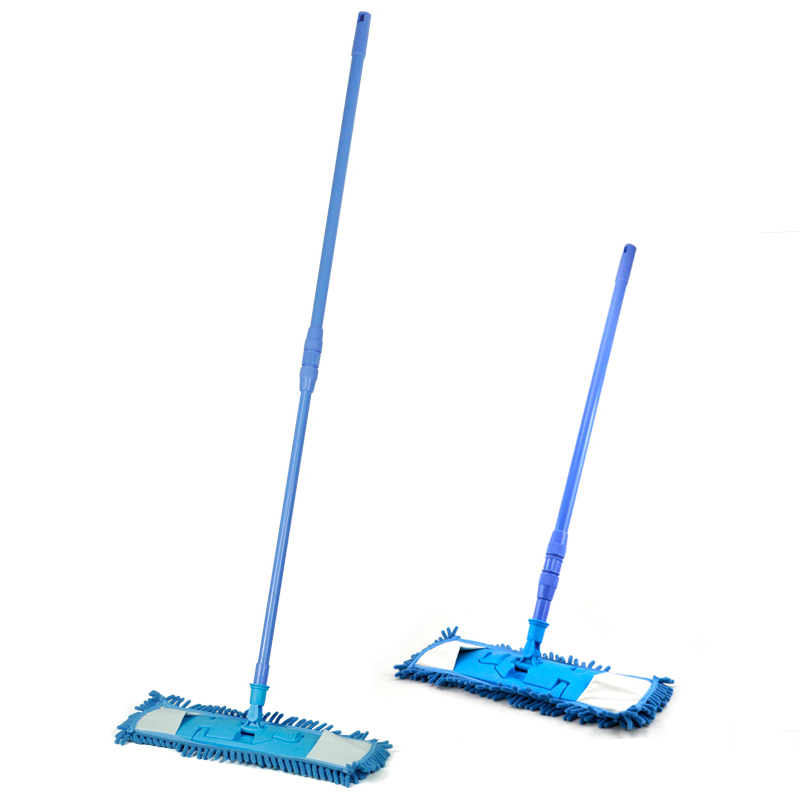 WSFS Hot New Extendable Microfibre Mop Cleaner Sweeper Wet Dry - Blue(China (Mainland))