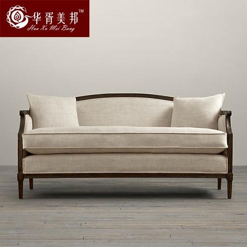 Campo franc s arte pano de sof de madeira s lida vermelho for Sofa estilo frances