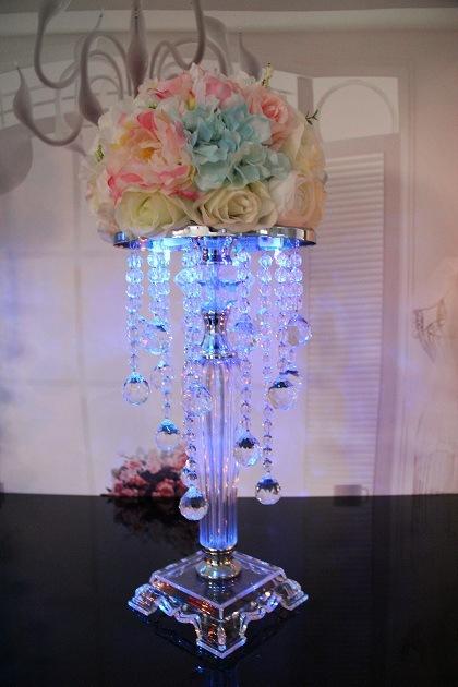 6pcs 38.5cm tall acrylic crystal wedding centerpiece/wedding pillars for wedding decoration(China (Mainland))