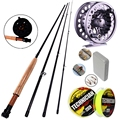 4 Sections Fly Fishing Rod Set 2 7M 5 6 Fly Rod and Reel Combo and