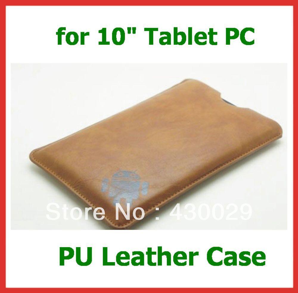 "Universal 10"" PU Leather Sleeve Case for Tablet PC 10 inch Sanei N10 3G Ampe A10 Pipo M3 Ainol Novo 10 Hero/Hero II Cube U30GT(China (Mainland))"