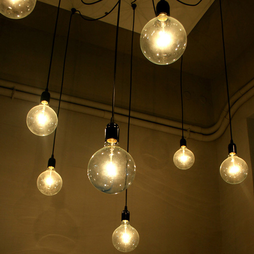 Vintage Pendant Lights E27 Industrial Retro Edison Lamps: Pendant Lamps Spider Light E27 LED Vintage Lamp 6 Arms