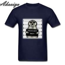 Забавные футболки Meerkat mugshot Джокер с круглым вырезом из чистого хлопка рубашка Camisa Hombre с коротким рукавом мужская одежда 2019 уличная футболка...(China)