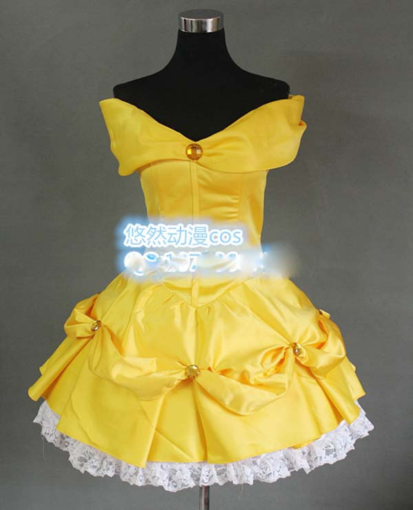 Здесь можно купить  New Beauty and the Beast costume women adult princess Belle cosplay halloween costumes for women dress custom-made  Одежда и аксессуары