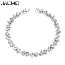 2016 High quality New arrival JIALIMEI brand fashion Jewelry 18k gold plated bracelet with zircon for women gift B002(China (Mainland))