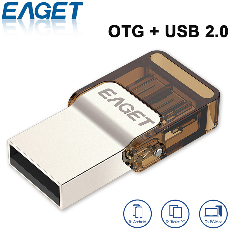 Original EAGET V9 Official Licensed Micro USB Flash Drive USB2.0+ OTG 32GB/ 16G Smart Phone Pen Drive Memory USB Stick(China (Mainland))