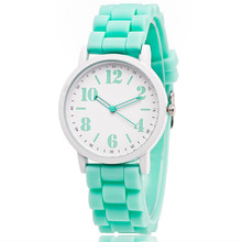 Candy Color Silicone Watches Women Students Girls Quartz Sport Wristwatches Clock Hour Fashion Children kids watch(China (Mainland))