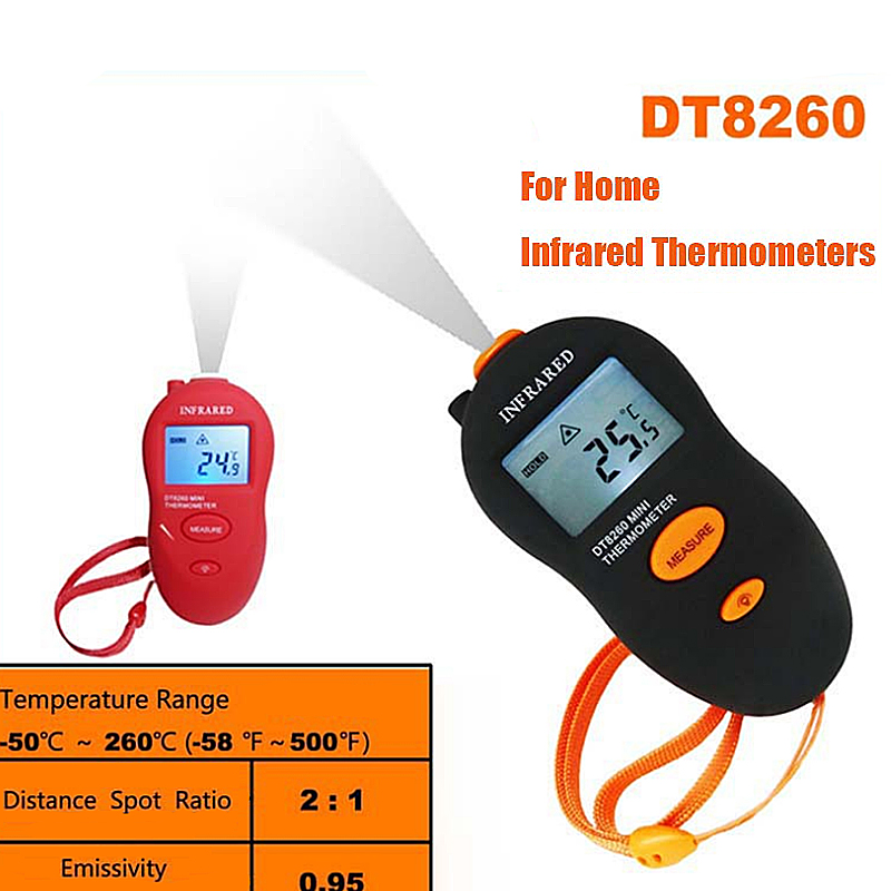 Portable Mini Non-Contact IR Infrared LCD Digital Thermometer Temp Meter Temperature Measuring Black/Red temperature controller(China (Mainland))