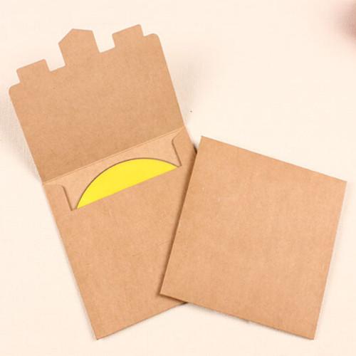 DHL 13*13cm Single Pieces Kraft Paper CD / DVD Sleeve Retail Package Pack Bags Packaging Packing