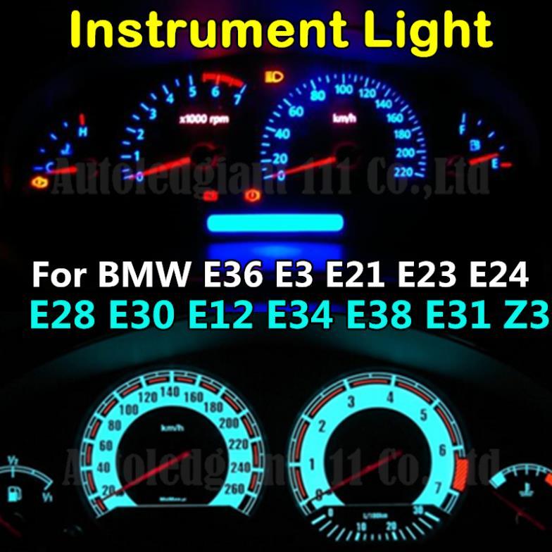 7 Colors T5 Led 12V Light Dashboard LED Instrument and Gauge Light Bulb For BMW E36 E3 E21 E23 E24 E28 E30 E12 E34 E38 E31 Z3(China (Mainland))