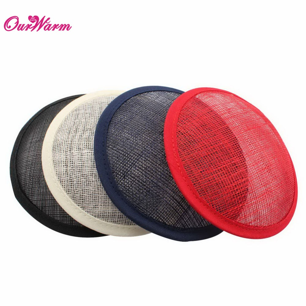 Linen Fascinator Base Sinamay Hats for Women Hair Fascinators Hat Party Hair Accessories DIY Craft Supplies for Party Decoration(China (Mainland))