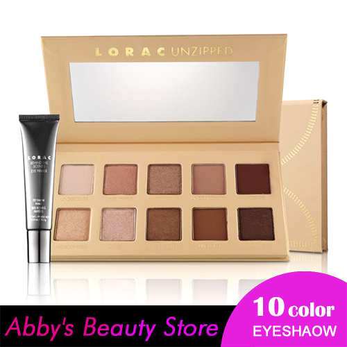 New Makeup Lorac Pro Palette Eyeshadow Palette Unzipped Palettes 10 Color Matte Eye Shadow With Eye Primer Maquillage De Marque(China (Mainland))