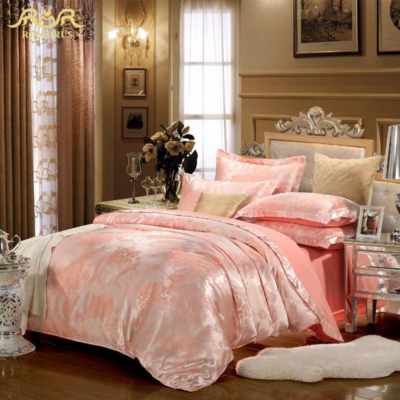 romorus prestige europe marque designer satin jacquard ensemble de literie de soie d 39 or 100. Black Bedroom Furniture Sets. Home Design Ideas