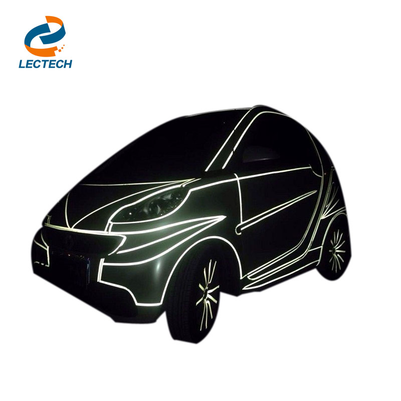 Car Sticker 1cm*5m Automotive Motorcycle Decoration Whole Reflective Tape Film Color Shiny Tint Strip Styling Free Shipping(China (Mainland))