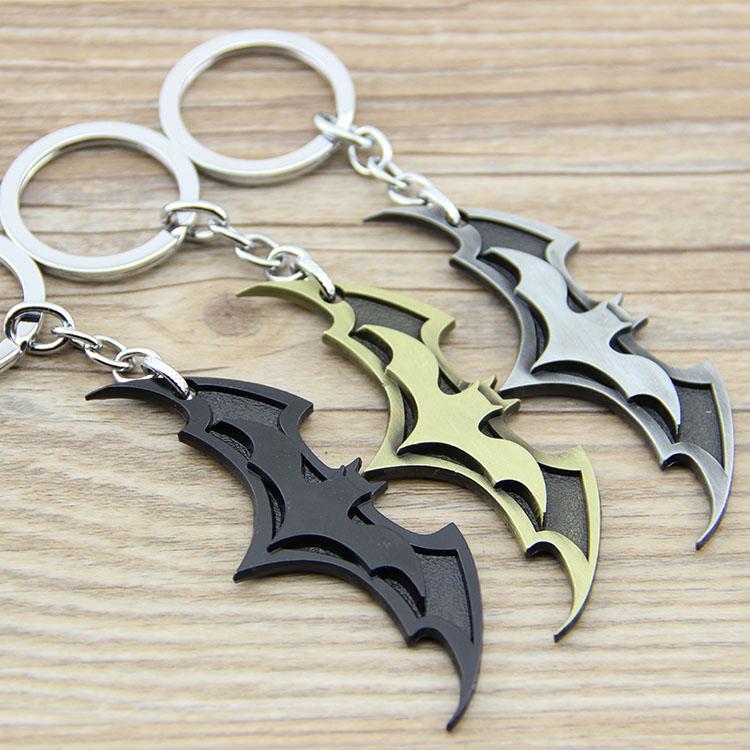 1PCS New Arrival Super Hero Superhero Marvel Batman Bat Metal Keychain Pendant Key Chain Chaveiro Key Ring KT195(China (Mainland))
