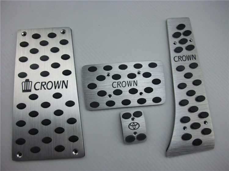 Left driving position Car accelerator Pedals AT for TOYOTA CROWN foot skid plate/Non-slip pedal Rest pedal(China (Mainland))