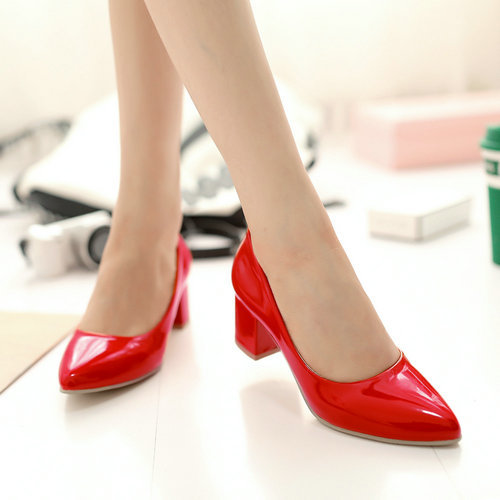 Fashion Patent Leather Women Special Offer Big Size Office &amp; Career Square Heel Shoes 2015 New Arrives Concise Pumps W1-HX-7-5<br><br>Aliexpress